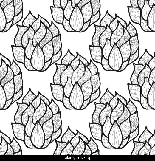 abstract hand drawn pattern with waves unique coloring book squ stock image - Unique Coloring Books