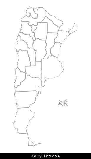 Outline Map Country Argentina Stock Photos Outline Map Country - Argentina map black and white