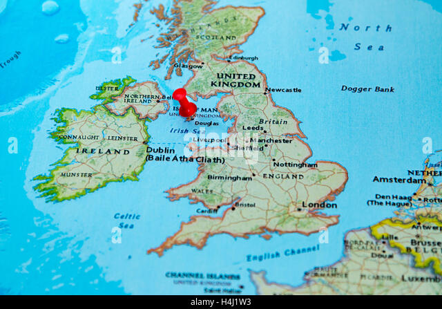 Isle Of Man Map Stock Photos Isle Of Man Map Stock Images Alamy - Isle of man map