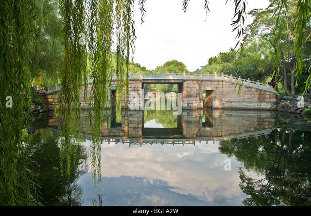 Willow trees chinese garden stock photos willow trees for 146 garden pond drive lexington sc