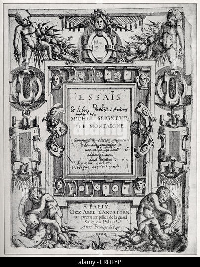 Michel de Montaigne (1533—1592)