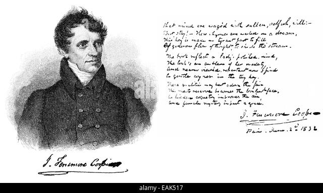 a biography of james fenimore cooper an american novelist Feeney (black mountain): pioneering american novelist james fenimore cooper lived from 1789 until 1851in the early years, professor wayne franklin ends his biography when 36 year old cooper boards a ship in 1826 to travel for the better part of a decade in europe with his wife and five children.