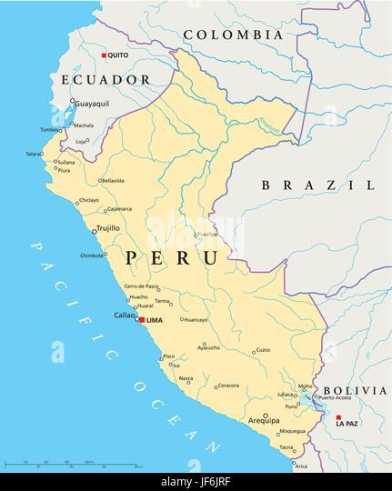 Peru map stock photos peru map stock images alamy south america peru map atlas map of the world travel gumiabroncs Gallery