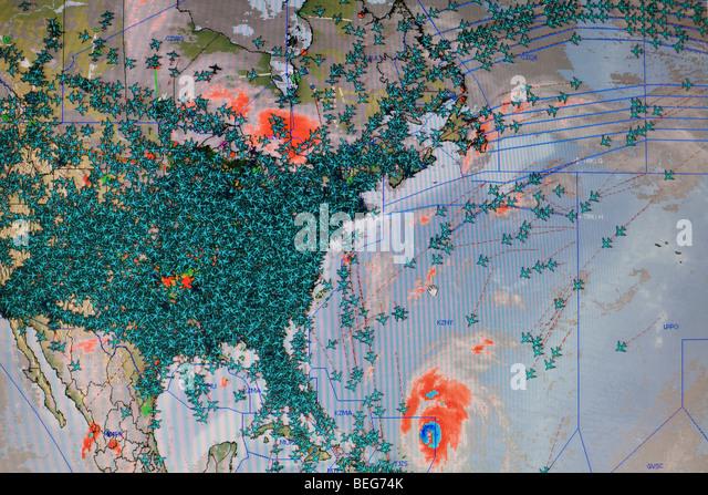 Air Traffic Control Screen Uk Stock Photos Air Traffic Control - Air traffic control maps us