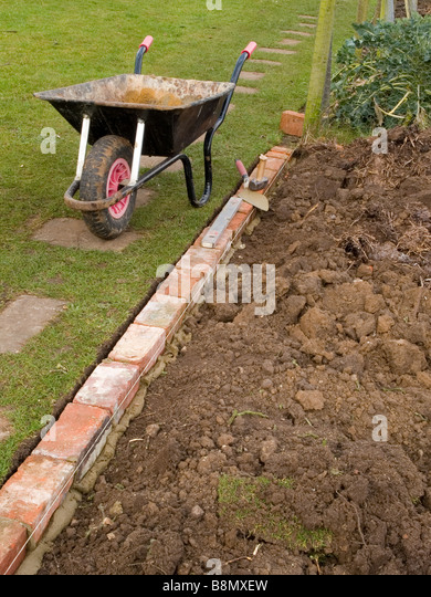 Brick Edging Stock Photos Brick Edging Stock Images Alamy