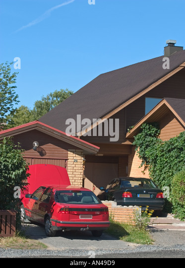 Car Permanently Parked Outside House