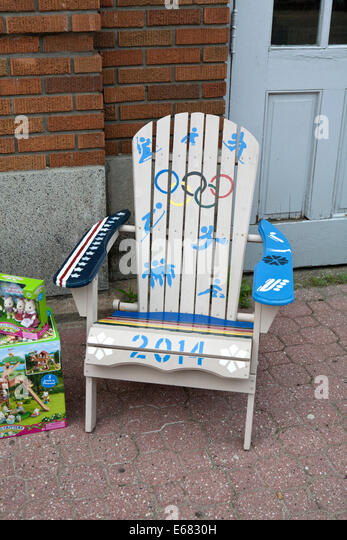 Decorated Adirondack Chairs