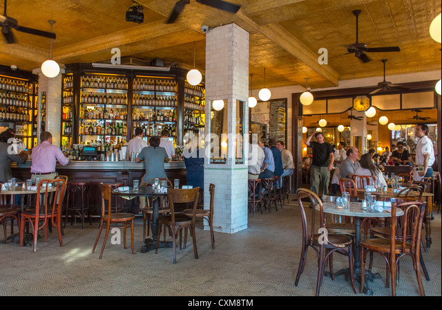 Inside french restaurant trendy stock photos