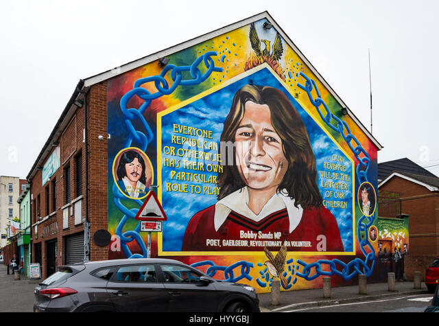 Bobby sands stock photos bobby sands stock images alamy for Bobby sands mural belfast