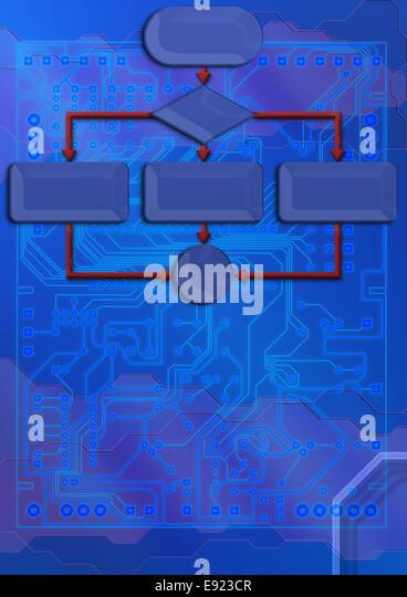 Circuit board blueprint stock photos circuit board blueprint technical backdrop with blueprint circuit board stock image malvernweather Images