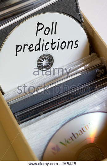 Poll Predictions Box Of Computer Discs England Uk Stock Image