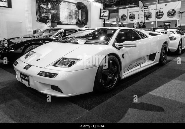 High Performance Mid Engined Sports Car Lamborghini Diablo VT 6.0, 2000.  Black