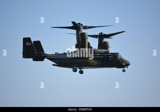 marine corps osprey aircraft which is part of president obamas marine one presidential detail