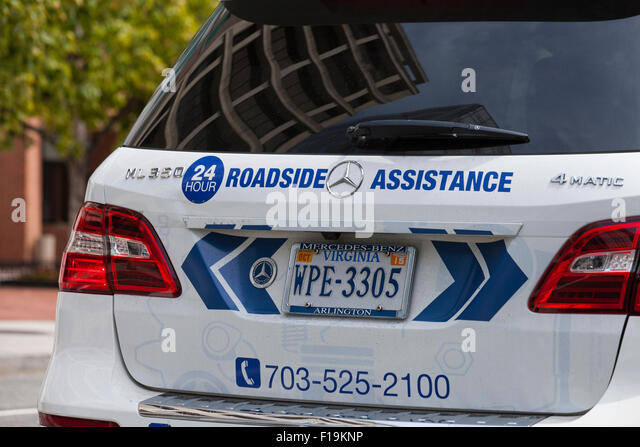 Roadside assistance vehicle stock photos roadside for Mercedes benz road side assistance