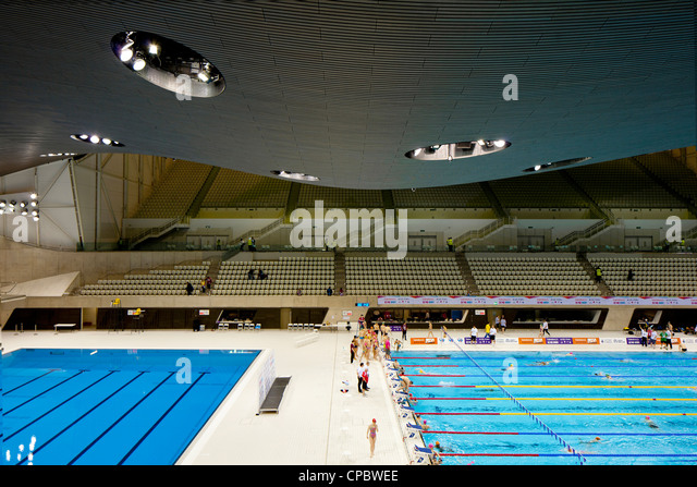 aquatic centre olympic park stratford london 2012 stock image