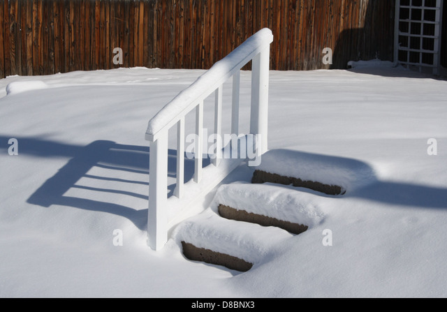Covered steps stock photos images