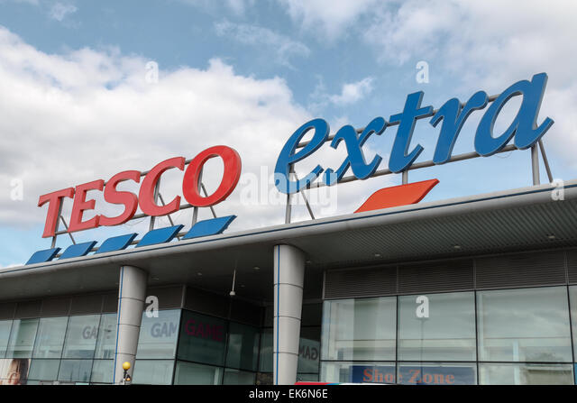 tesco extra supermarket tescos stock photos tesco extra. Black Bedroom Furniture Sets. Home Design Ideas