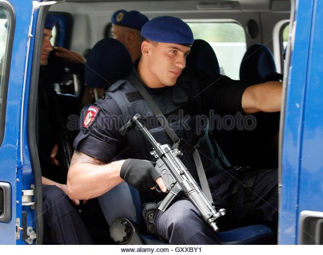 police the entrance escorts