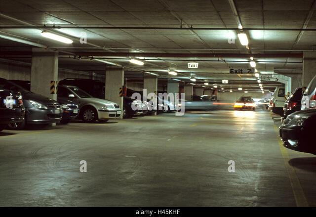 Car park underground stock photos car park underground for Garage auto lyon 6
