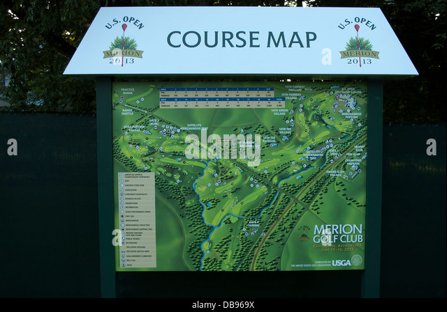 Merion Pennsylvania Stock Photos Merion Pennsylvania Stock - Us open course map