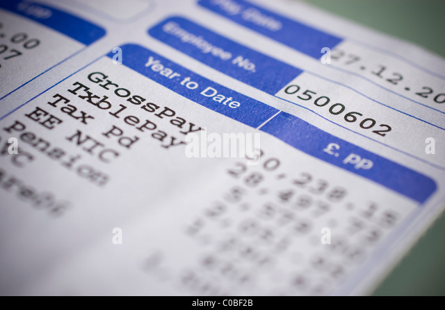 Pay Slip Wages Photos Pay Slip Wages Images Alamy – Wages Slip