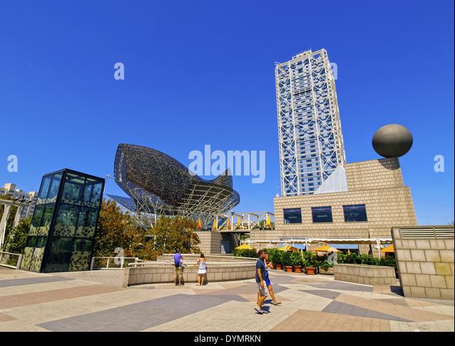 Modern Architecture Barcelona modern architecture in spain stock photos & modern architecture in