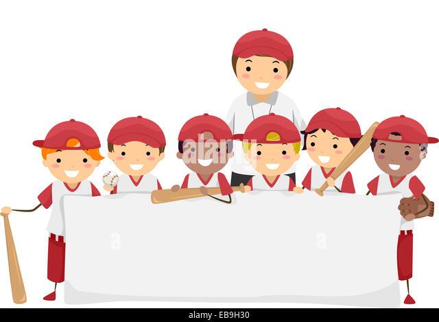 Cartoon Illustration Boy Playing Baseball Stock Photos Amp Cartoon Illustration Boy