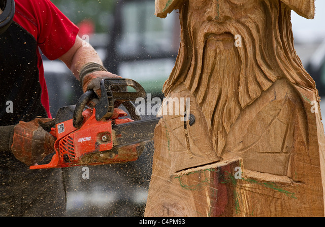 Woodcutter competition stock photos
