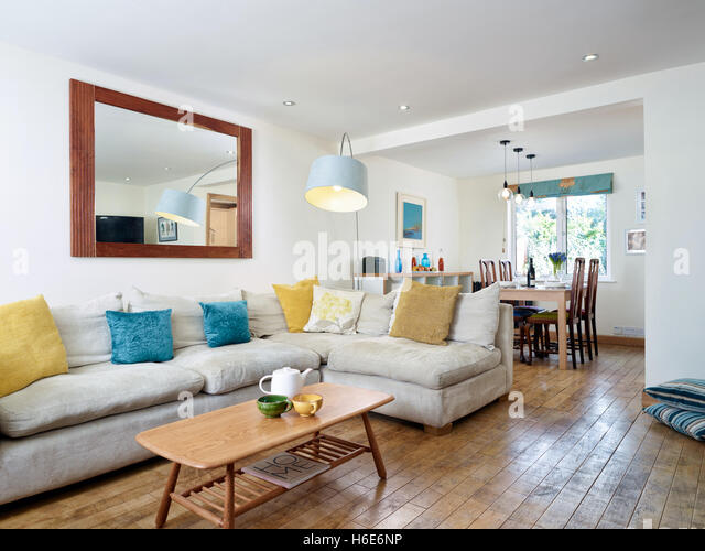 An Open Living Room Dining In A Modernised UK Home