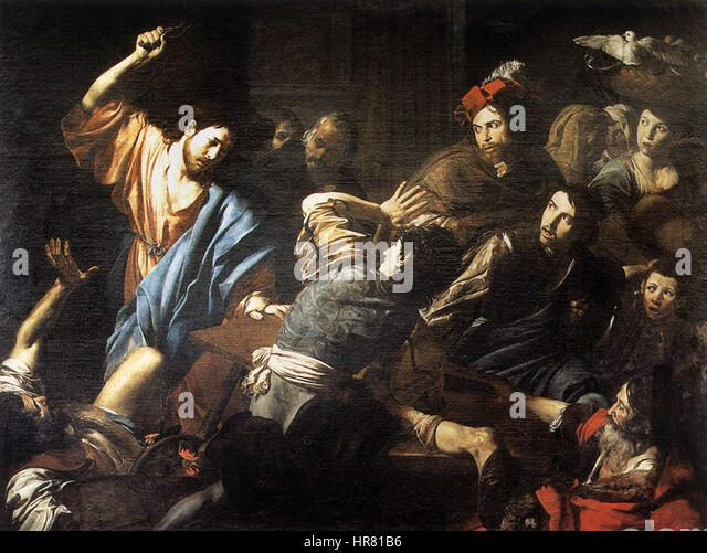 Valentin De Boulogne Christ Driving The Money Changers Out Of Temple