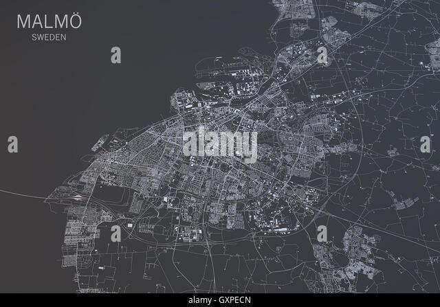 Malmö Map Stock Photos Malmö Map Stock Images Alamy - Sweden map 3d
