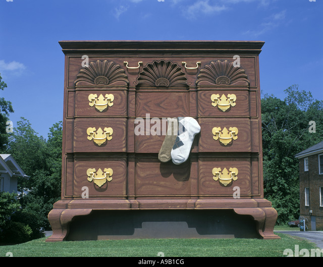 GIANT CHIPPENDALE FURNITURE DRESSER HIGH POINT NORTH CAROLINA USA   Stock  Image