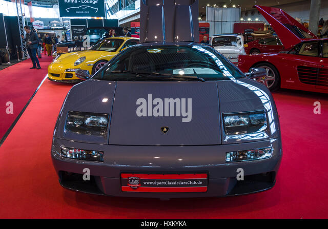STUTTGART, GERMANY   MARCH 02, 2017: Sports Car Lamborghini Diablo VT 6.0,