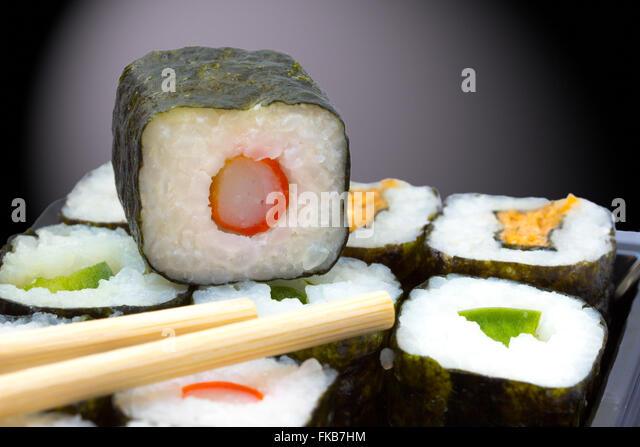 sushi box stock photos sushi box stock images alamy. Black Bedroom Furniture Sets. Home Design Ideas
