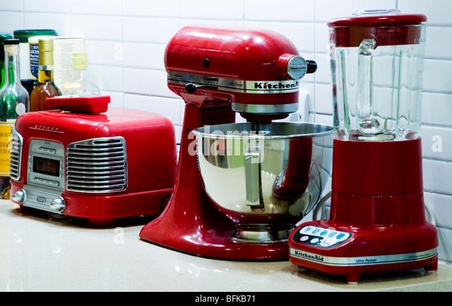 Kitchenaid stock photos kitchenaid stock images alamy - Red kitchen appliances ...