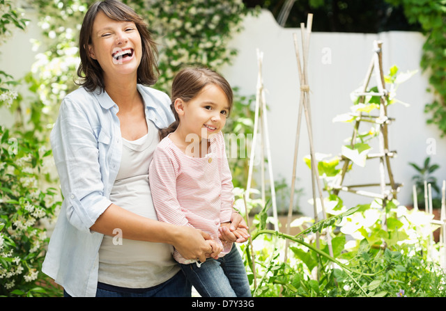 Expectant mother stock photos expectant mother stock for Gardening while pregnant