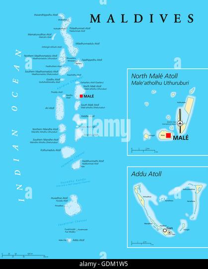 Maldives Map Stock Photos Maldives Map Stock Images Alamy - Republic of maldives map
