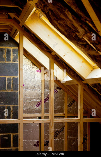 Unfinished attic stock photos unfinished attic stock images alamy - Interior insulating materials ...