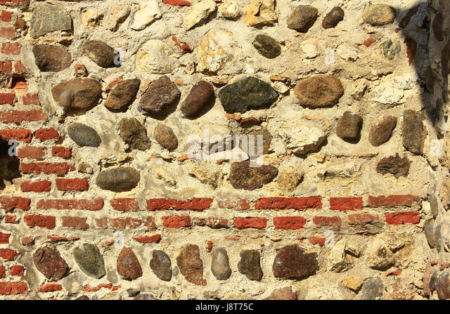 Section Mixed Red Brick Wall Stock Photos & Section Mixed Red Brick ...