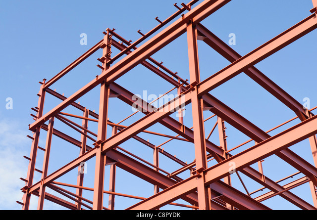 Steel Frame Construction : Steel frame building stock photos