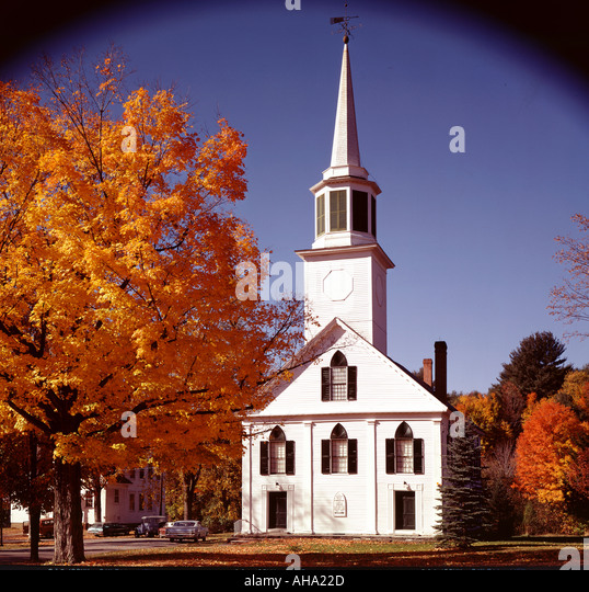 Typical New England Church Stock Photos & Typical New
