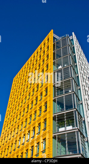 central st giles vivid vibrant bright yellow mixed use development by renzo piano st giles high brightly colored offices central st