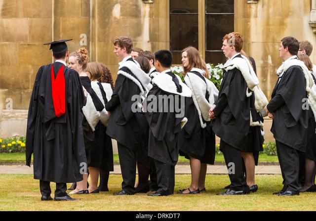 Students Graduate Cambridge College Stock Photos & Students ...