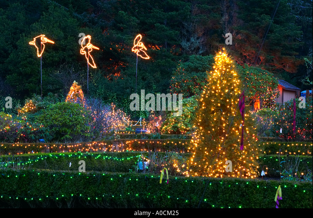 Christmas Lights Shore Acres State Stock Photos & Christmas Lights ...