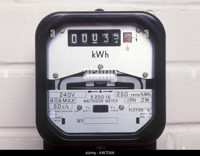 Kilowatt Usage Meter : Kilowatt stock photos images alamy