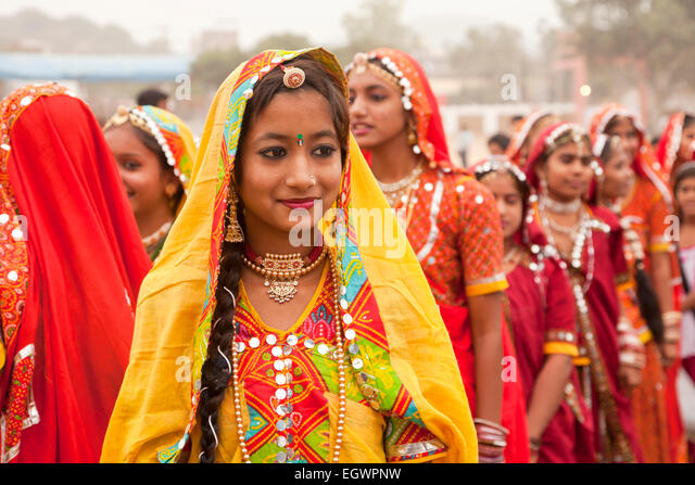 Woman In Traditional Rajasthani Dress Stock Photos & Woman ...
