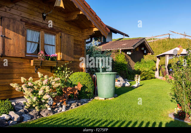 Germany bavaria typical wooden house stock photos for Outside house ornaments