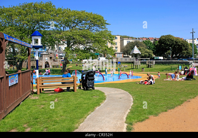 Girls paddling in swimming pool stock photos girls - Hotels weston super mare with swimming pool ...