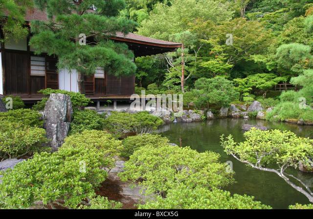 Pine Tree Garden In Ginkaku Ji Or Temple Of The Silver Pavilion In Kyoto  Japan