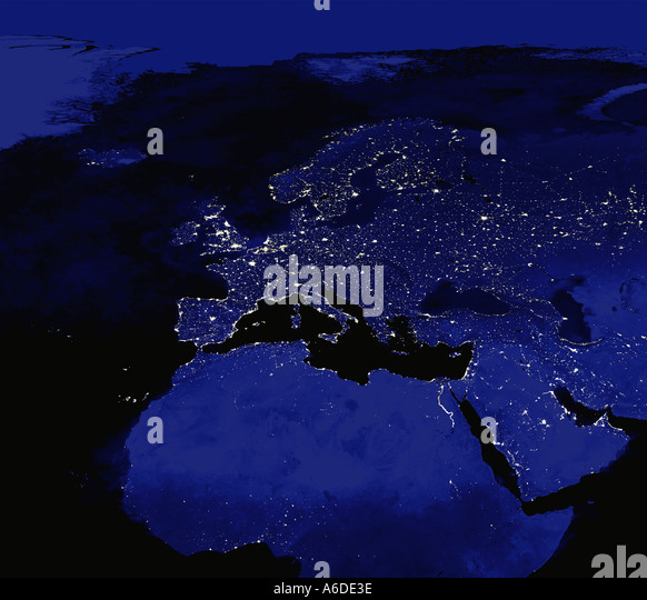 Map Maps Night Nightime Oceans Satellite Image Satellite Images - World satellite map lights